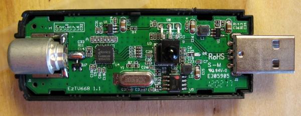 E4000 USB DVB-T RTL-SDR Realtek RTL2832U R820T DVB-T Tuner ...