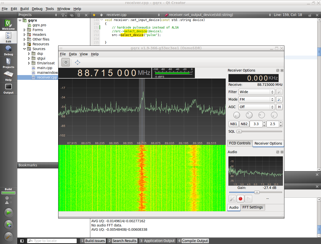 GNU Radio and rtl-sdr w/Realtek RTL2832U and Elonics E4000
